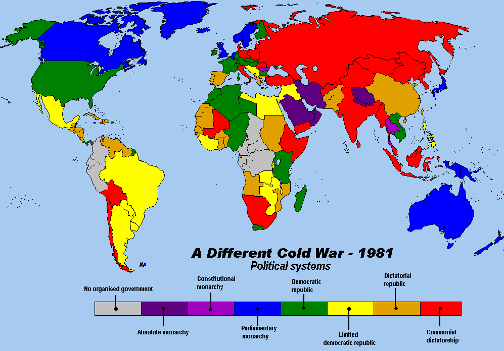 World Map During the Cold War   Cold War Research Project